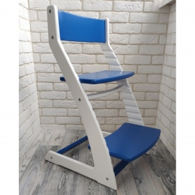 Детский регулируемый стул ВАСИЛЁК slim ВН-21Д (бело-синий)