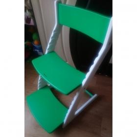 Детский регулируемый стул ВАСИЛЁК slim ВН-21Д (бело-зеленый)