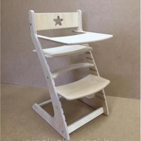 Детский растущий регулируемый стул Ростик/Rostik со столиком (лак)