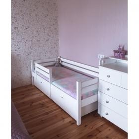 Детская кровать Rostik с бортиком (белая)