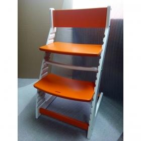 Детский регулируемый стул ВАСИЛЁК slim ВН-21Д (бело-оранжевый)