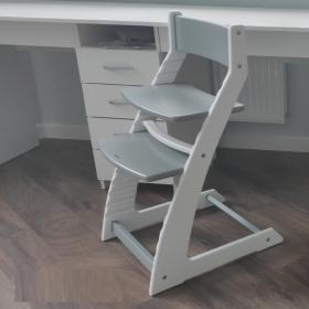 Растущий стул ВАСИЛЁК slim ВН-21Д (Бело-серый)