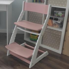 Детский регулируемый стул ВАСИЛЁК slim ВН-21Д (бело-фламинговый)
