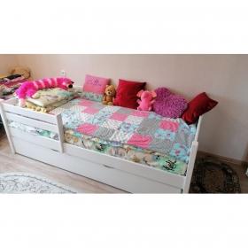 Детская (подростковая) кровать Rostik c дополнительным спальным местом (белая)