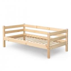 Детская (подростковая) кровать Соня с задней защитой без бортика и ящиков (прозрачный лак)