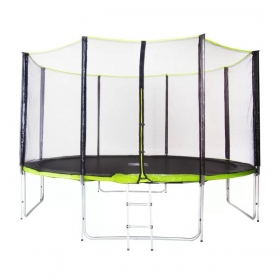 Батут Fitness Trampoline GREEN 14 FT Extreme (4 опоры)