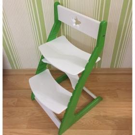 Детский растущий регулируемый стул Ростик/Rostik (бело-зеленый)