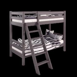 Двухъярусная детская (подростковая) кровать Соня с наклонной лестницей (лаванда)