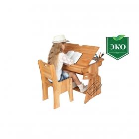 """Парта-растишка с ящиком """"Школярик"""" (увеличенный размер) (С490-1+С300 (90см))"""