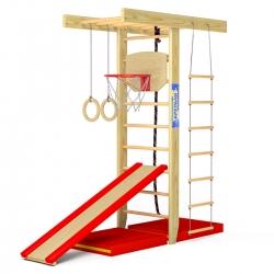 Детский игровой комплекс Крепыш Т-образный (лак, полная комплектация)