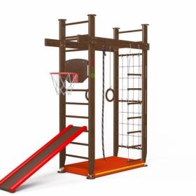 Детский игровой комплекс Крепыш П-образный с верхним турником (враспор)