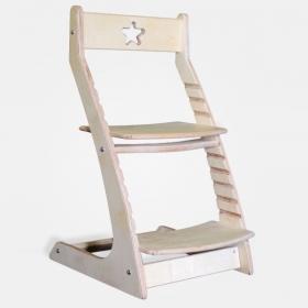 Детский растущий регулируемый стул Ростик/Rostik (не крашенный)
