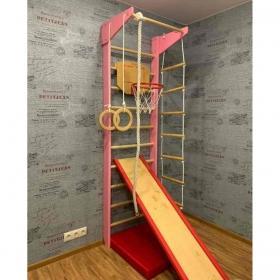 Шведская стенка Крепыш 01 Ультра (розово-бежевая, базовая комплектация)