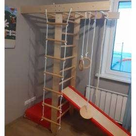 Детский спортивный комплекс Крепыш Т-образный (лак, базовая комплектация)